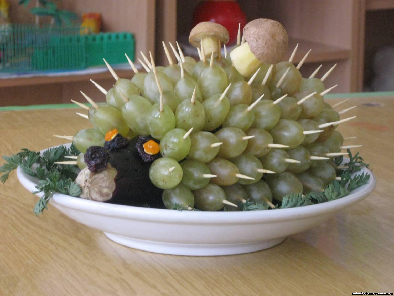 Поделки из фруктов ежик фото