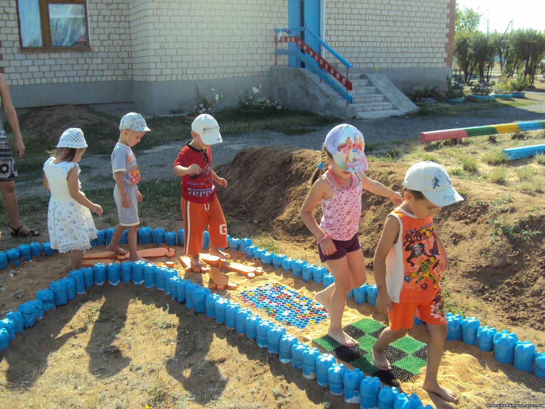 Дорожки здоровья для детского сада своими руками фото