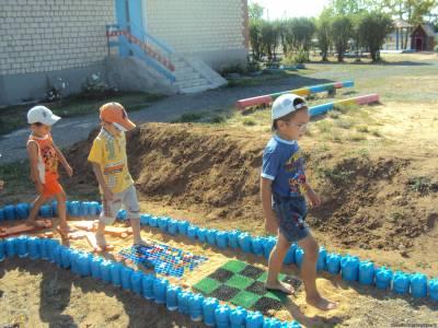 Фото тропа здоровья в детском саду своими руками