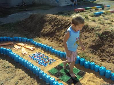 Дорожки здоровья в детском саду своими руками фото